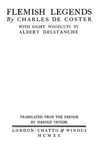 Cover of Flemish Legends