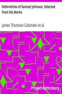 Deformities of Samuel Johnson, Selected from His Works