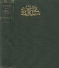 Cover of Authors and Writers Associated with MorristownWith a Chapter on Historic Morristown