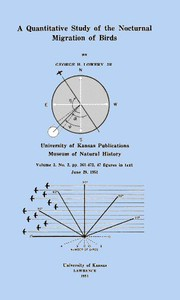 Cover of A Quantitative Study of the Nocturnal Migration of Birds