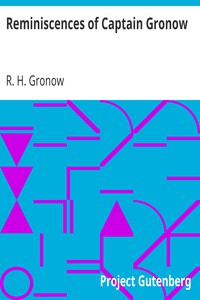 Cover of Reminiscences of Captain Gronow