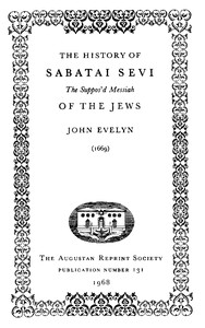 Cover of The History of Sabatai Sevi, the Suppos'd Messiah of the Jews