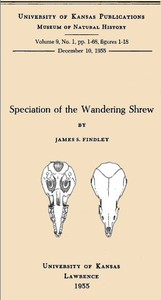 Cover of Speciation of the Wandering Shrew