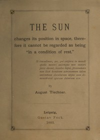 """Cover of The Sun changes its position in spacetherefore it cannot be regarded as being """"in a condition of rest"""""""