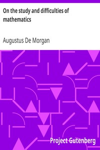 Cover of On the study and difficulties of mathematics