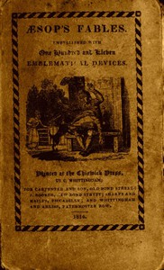 Cover of Æsop's Fables, Embellished with One Hundred and Eleven Emblematical Devices.