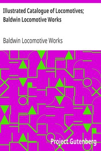 Cover of Illustrated Catalogue of Locomotives; Baldwin Locomotive Works