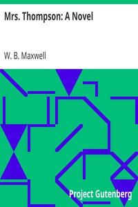 Cover of Mrs. Thompson: A Novel
