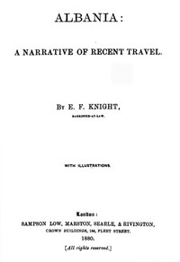 Cover of Albania: A Narrative of Recent Travel