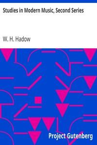 Cover of Studies in Modern Music, Second Series Frederick Chopin, Antonin Dvořák, Johannes Brahms