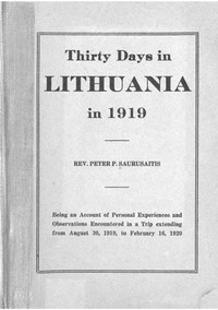 Cover of Thirty Days in Lithuania in 1919