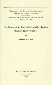 North American Recent Soft-Shelled Turtles (Family  Trionychidae)