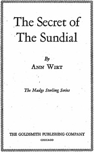Cover of The Secret of the SundialMadge Sterling Series, #3