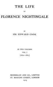 Cover of The Life of Florence Nightingale, vol. 1 of 2