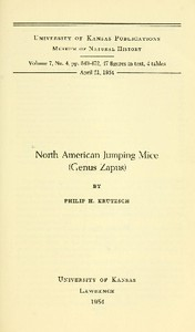 Cover of North American Jumping Mice (Genus Zapus)