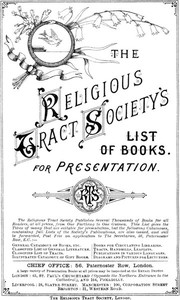 Cover of The Religious Tract Society Catalogue - 1889