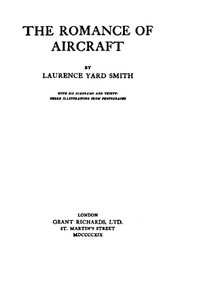 Cover of The Romance of Aircraft