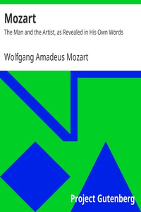 Cover of Mozart: The Man and the Artist, as Revealed in His Own Words