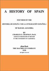 Cover of A History of Spain founded on the Historia de España y de la civilización española of Rafael Altamira