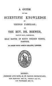 Cover of A Guide to the Scientific Knowledge of Things Familiar
