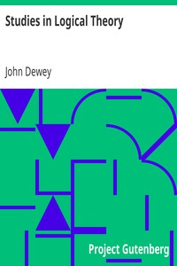 Cover of Studies in Logical Theory
