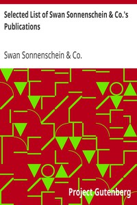 Selected List of Swan Sonnenschein & Co.'s Publications