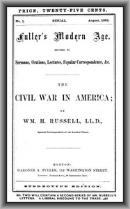 Cover of The Civil War in AmericaFuller's Modern Age, August 1861