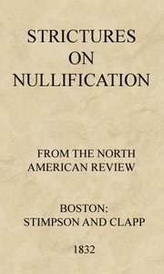 Cover of Strictures on Nullification