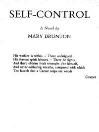 Cover of Self-control: A Novel