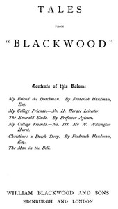 """Cover of Tales from """"Blackwood,"""" Volume 6"""