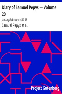 Cover of Diary of Samuel Pepys — Volume 20: January/February 1662-63