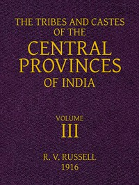 Cover of The Tribes and Castes of the Central Provinces of India, Volume 3