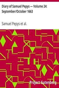 Cover of Diary of Samuel Pepys — Volume 24: September/October 1663