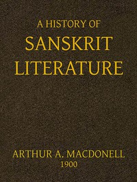 Cover of A History of Sanskrit Literature