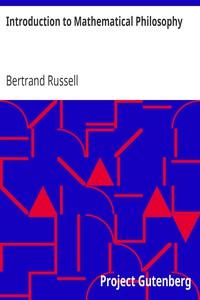 Cover of Introduction to Mathematical Philosophy