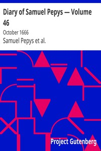Cover of Diary of Samuel Pepys — Volume 46: October 1666