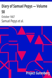 Cover of Diary of Samuel Pepys — Volume 58: October 1667