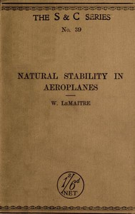 Cover of Natural Stability and the Parachute Principle in Aeroplanes