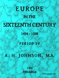 Europe in the Sixteenth Century, 1494-1598, Fifth Edition Period 4 (of 8), Periods of European History