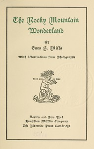 Cover of The Rocky Mountain Wonderland