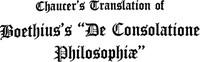 "Cover of Chaucer's Translation of Boethius's ""De Consolatione Philosophiae"""