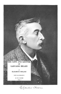 Cover of The Life and Letters of Lafcadio Hearn, Volume 1