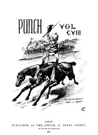 Cover of Punch, or the London Charivari, January 5th, 1895