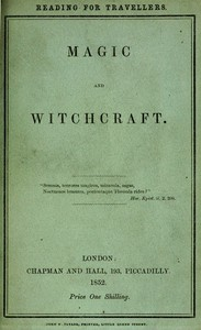 Cover of Magic and Witchcraft