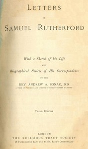 Cover of Letters of Samuel Rutherford(Third Edition)