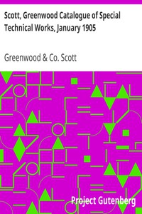 Cover of Scott, Greenwood Catalogue of Special Technical Works, January 1905