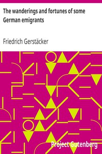 Cover of The wanderings and fortunes of some German emigrants