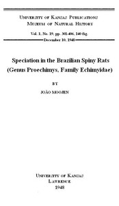 Cover of Speciation in the Brazilian Spiny Rats