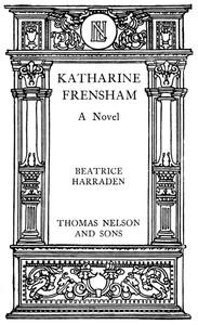 Katharine Frensham: A Novel