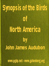 Cover of A Synopsis of the Birds of North America